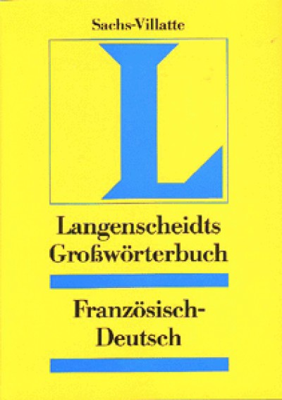 Lagenscheidt - Großwörterbuch French-German Dictionary (One Direction Only)