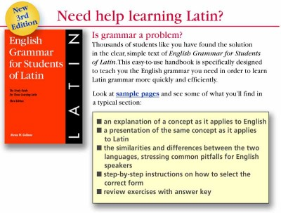 English Grammar for Students of Latin (PB)