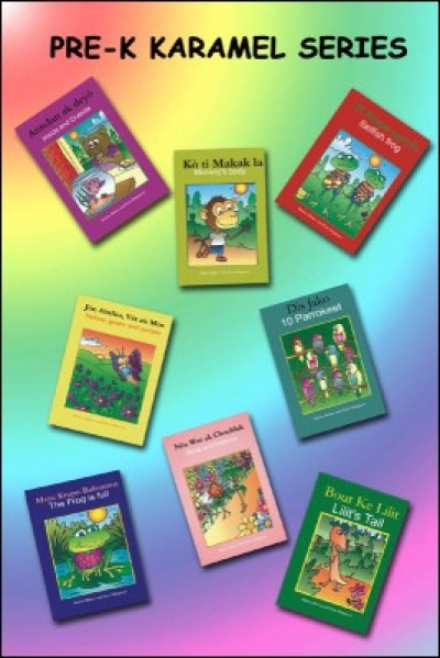 Pre-K Karamel Series 20-Book Pack Haitian-Creole & English