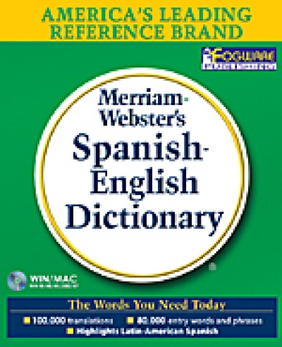 Merriam-Webster's - Spanish-English Dictionary on CD-ROM