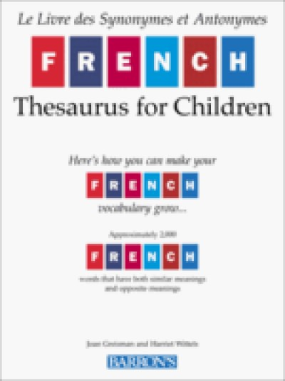 FRENCH THESAURUS FOR CHILDREN