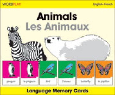 WordPlay Language Memory Cards - Animals (Les Animaux) English-French