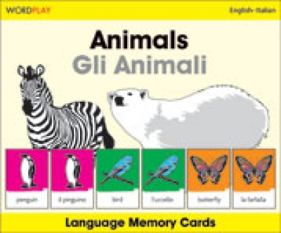 WordPlay Language Memory Cards - Animals (Gli Animali) (English-Italian)