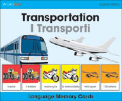 WordPlay Language Memory Cards - Transportation (I Transporti) (English-Italian)