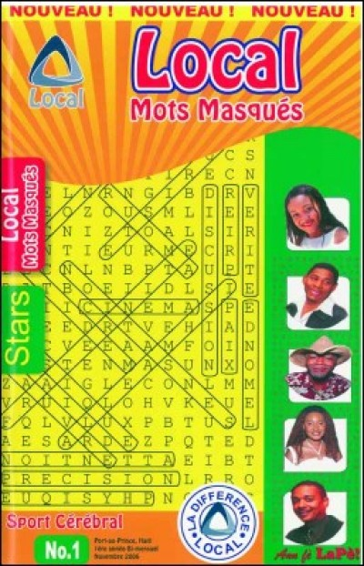 Local Mots masqués / Word Crossword-Puzzles by Pierrot Mervilier