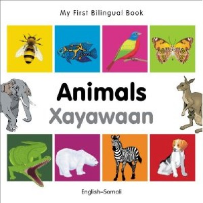 My First Bilingual Book of Animals in Somali & English (Board book)