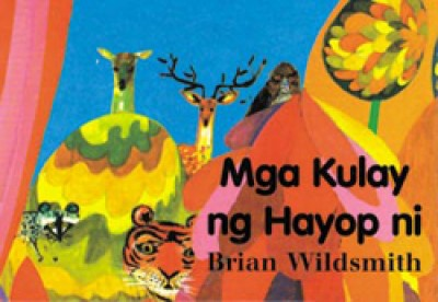 ANIMAL COLORS Board Book in Tagalog