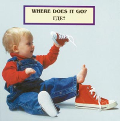 WHERE DOES IT GO? board book in Russian & English