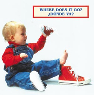 WHERE DOES IT GO? board book in Spanish & English