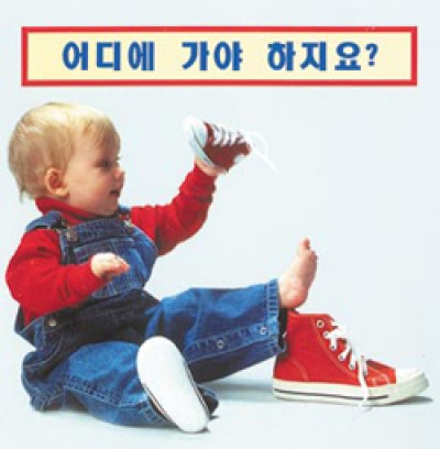 WHERE DOES IT GO? board book in Korean only