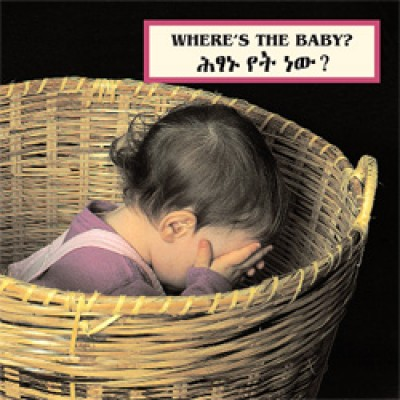 WHERE'S THE BABY? board book in Amharic & English