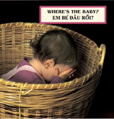 WHERE'S THE BABY? board book in Vietnamese & English