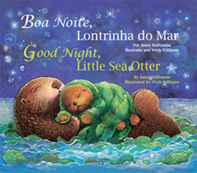 Good Night, Llittle Sea Otter board book in Portuguese & English
