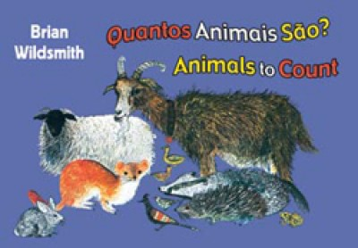 BRIAN WILDSMITH'S ANIMALS TO COUNT in Portuguese & English board book