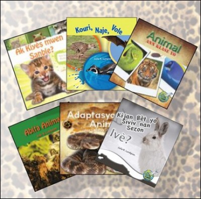 Science Collection: Animals: - Set of 6 Books on Animals in Haitian Creole