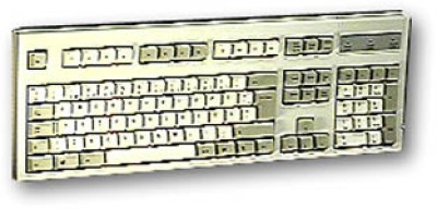 Keyboard for French and English Bilingual Ivory PS2 BTC 5200